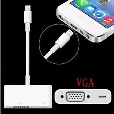 8Pin to VGA Adapter HDTV Projector Cable Sync for iPad 4 Air iPhone 5S 7 6S Plus