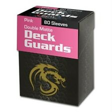80 BCW Matte Pink MTG Deck Guards Protector Gaming Card Sleeves - BOXED!
