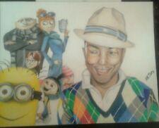 Pharrell/despicable me/minions drawing/artwork/original/cartoon/animation