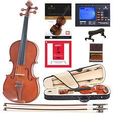 Cecilio CVN-200 Solidwood Violin with D'Addario Prelude Strings, Size 4/4