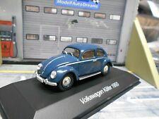 VW Volkswagen Käfer Beetle 1200 Brezel 1950 blau blue IXO Altaya SP 1:43