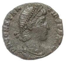 ROMAN BRONZE COIN FOLLIS CONSTANTIUS II FALLEN HORSEMAN CONSTANTINOPLE AE16 1,9g