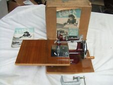Vintage 1950s Essex Hand Crank Miniature Sewing Machine Original Box