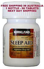 SLEEP AID DOXYLAMINE SUCCINATE 25 MG  96 TABLETS SYDNEY STOCK NEW