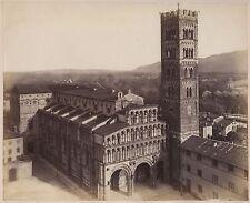Cathédrale Saint-Martin de Lucques Italie Italia Vintage albumine ca 1870