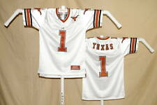 TEXAS LONGHORNS  sewn #1  FOOTBALL JERSEY  Colosseum   Youth Large  NwT  white
