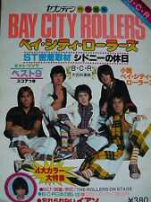 BAY CITY ROLLERS RARE 1977 JAPANESE MAGAZINE