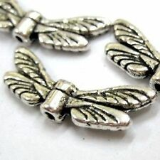 20 pieces dragonfly wings Tibetan Silver Alloy Beads - A0649