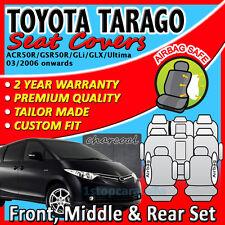 GREY CUSTOM FIT SEAT COVERS for TOYOTA TARAGO 8-Seat MARCH/2006+ ACR50R/GSR50R