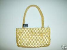 Gold Beaded Purse/Handbag With Beaded Handle NWT