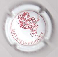 capsule de champagne MATHIEU-PRINCET, inscription téléphone sur le côté