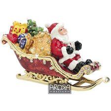 Craycombe Trinkets 6028 Santa on Sleigh Secret Jewellery Trinket Box  NEW  20611