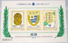 Uruguay 1978 Block 39 C434 Soccer Football World Cup NH