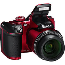 Nikon Coolpix B500 (Red) 16MP Digital Camera with 40x Optical Zoom