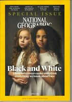 NATIONAL GEOGRAPHIC APRIL 2018 SPECIAL RACE ISSUE TITLE BLACK AND WHITE TWINS