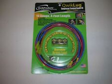 Qwik Lug Compressor Terminal Repair Kit 10AWG-4FT Leads-For Spade Terminals-USA
