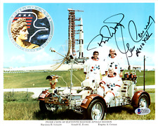 Gene Cernan Apollo 17 Signed NASA 8x10 Color Photo with Beckett Certificate