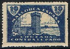Mallorca 1937/39 Cruzada contra el paro: Torreón 10 c. azul (**) UNC