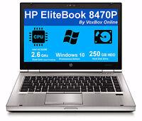 HP LAPTOP ELITEBOOK 8470P i5 2.6Ghz 4GB WINDOWS 10 PROFESSIONAL PC