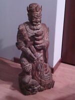 STATUA IN LEGNO GUERRIERO  CHINESE WARRIOR