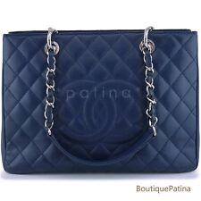 Chanel Navy Blue Caviar Grand Shopper Tote GST Bag SHW 63755