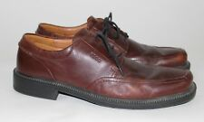 ECCO Oxfords Casual Dress Shoes Lace Ups Brown Leather Men's Size 43 (US 9-9.5)