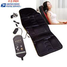 Back Massage Chair Heat Seat Cushion Neck Pain Lumbar Support Pads Car 12V
