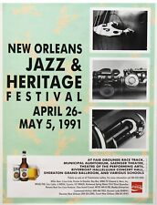 New Orleans 1991 Jazz & Heritage Festival Promo Poster Authentic Original
