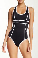 SPANX 2690 Hourglass Racerback One-Piece Swimsuit Jet Black 8 10 14 NEW NWT