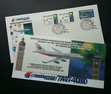 Malaysia Airlines Flight To London 1989 Transport Aviation Airplane (FDC) *Error