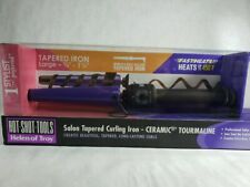 Hot Shot Tools Helen of Troy Salon Tapered Curling Iron Ceramic Tourmaline Med.