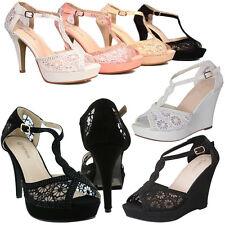 NEW Peep Toe Floral Lace High Heel Bridal Party Platform Prom Stiletto Pump Shoe