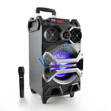 Rechargeable Bluetooth PA Speaker MP3/USB/SD Lights Wireless-Mic Karaoke System