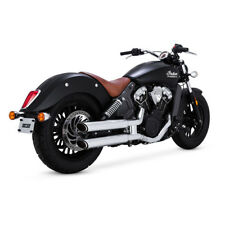 Vance & Hines Twin slash Slip-Ons Chrome, for Indian Scout 15-18
