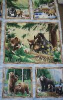 Bear Mountain wildlife panel Wilmington fabric