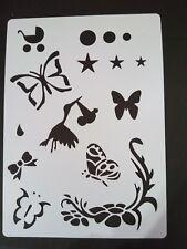 Secondi stencil fiore CICOGNA Farfalla's Bow Star Cardmaking Scrapbooking Craft