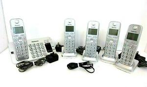 Panasonic KX-TGE470 Cordless 5 Phones  5 Base Bluetooth Voice System Intercom