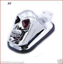 2x, Personalizado, cráneo, Stop, luz trasera, VW, Escarabajo, Buggy, Harley, Honda,, Trike, proyectos