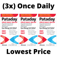 Pataday Once Daily Eye Allergy Itch Relief Eye DropS 2.5 ml - **LOT OF 3** - NEW
