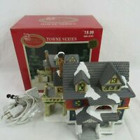 Dickens Collectables Towne Series Lighted House Manor 1998 Vintage 429-2181