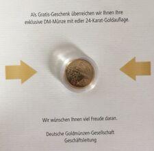 Exklusive DM-Münze (1 DM) mit edler 24-Karat-Goldauflage