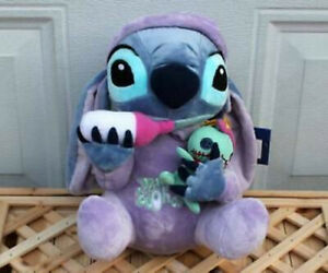 Lilo and Stitch Stitch in Pajamas Holding Scrump Milk Bottle Ohana Plush 2019