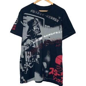 Star Wars Marc Ecko Cut & Sew Darth Vader True Star Mens Black T-Shirt Size L