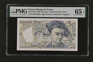 1992 France Banque de France 50 Francs Pick#152f PMG 65 EPQ Gem UNC