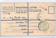 ZAMBIA Registered Stationery METER FRANKED 1974 Cover {samwells-covers}CS225