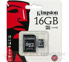 Kingston Micro SD 16GB SDHC Micro Memory Card Mobile Phone Class 10 + SD Adapter