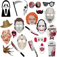 22PCS Halloween Photo Booth Props Photography Party Decoration Selfie Stick Kit