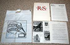 ROLLING STONE MAGAZINE 1981 New Format Press Kit 5pc Lot + 1970s Shopping Bag