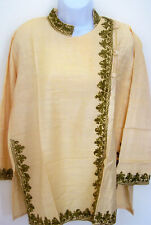 BEAUTIFUL EMBROIDERED Silk TUNIC TOP KURTI FROM KASHMIR INDIA!