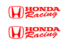 Honda Racing Decal RED Sticker Civic Accord CRX Turbo SI Auto drift decals